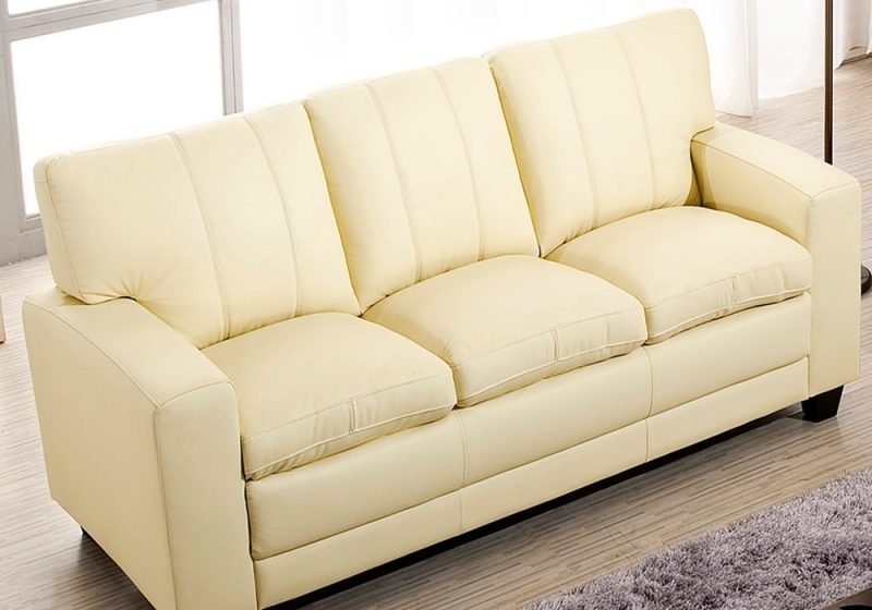 The three seater of Fancy Homes Cacao lounges suites leather sofa