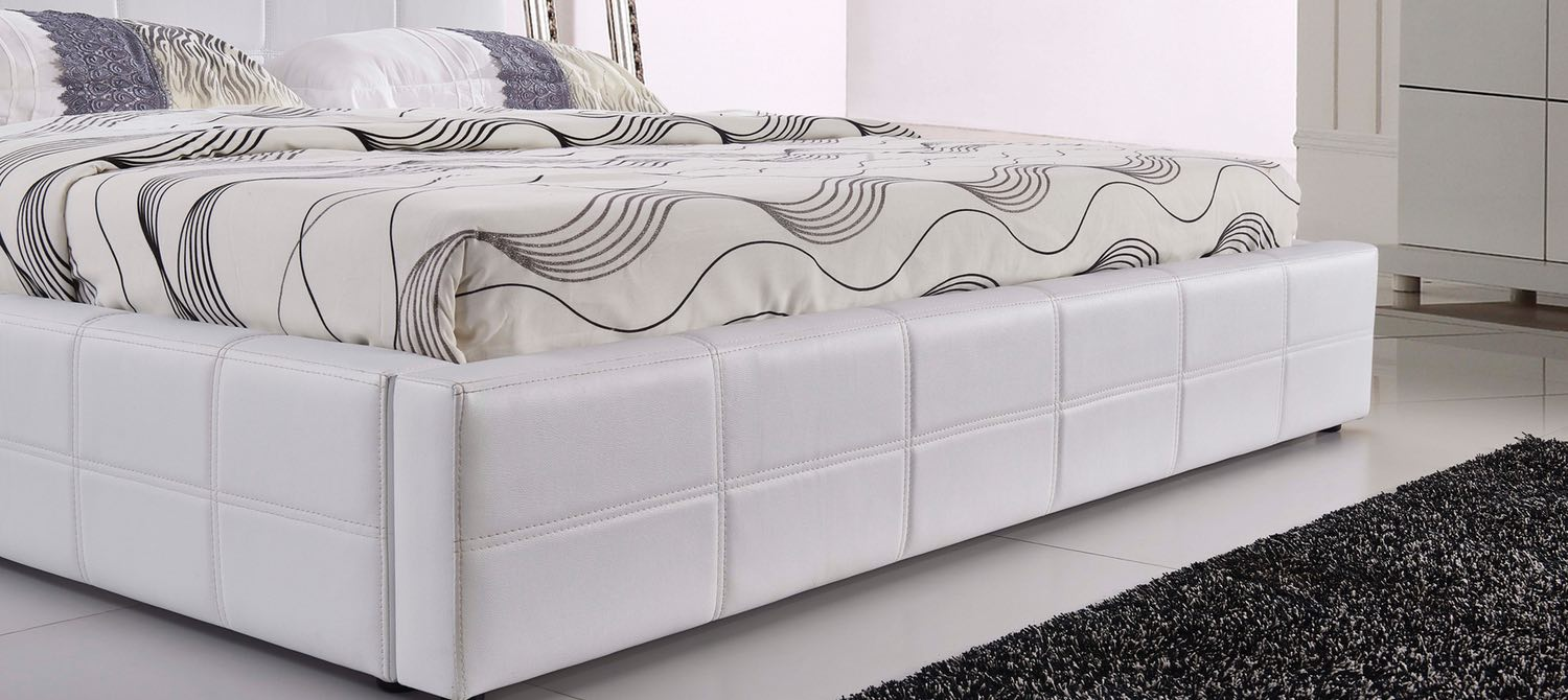 Coco Modern Designer Italian Leather Bed Frame Fancy Homes