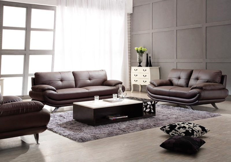 Fancy Homes Diapason lounges suites leather sofa in brown leather features versatile design suitable for both casual and formal occasions