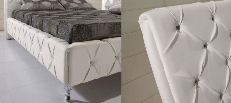 Fancy Homes Elvin Leather Bed Frame, Leather Beds Buckle Details