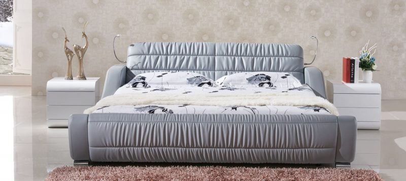 Fancy Homes Enzo Italian leather bed frame
