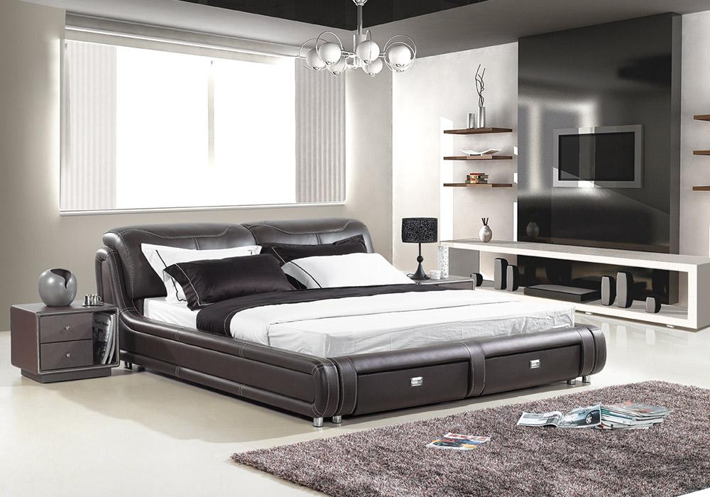 terrific leather bedroom furniture design | CAROL- Designer Leather Bed Frame with Storage | Fancy Homes
