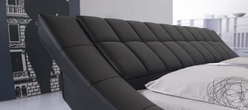 Fancy Homes Leia Leather Bed Frame, Leather Beds Black Bedhead