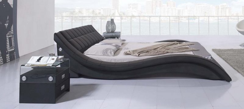 Fancy Homes Leia Leather Bed Frame, Leather Beds Black Side