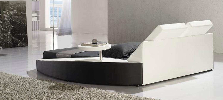 Marino Multimedia Italian Leather Bed Frame Fancy Homes