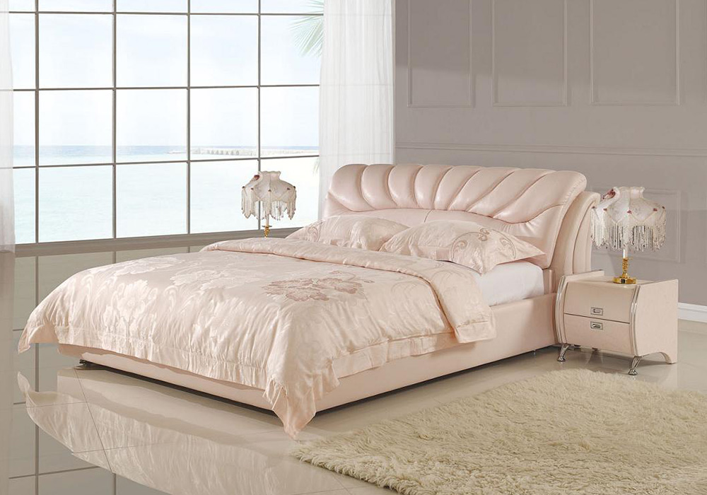 PINK- Designer Leather Bed Frame | Fancy Homes