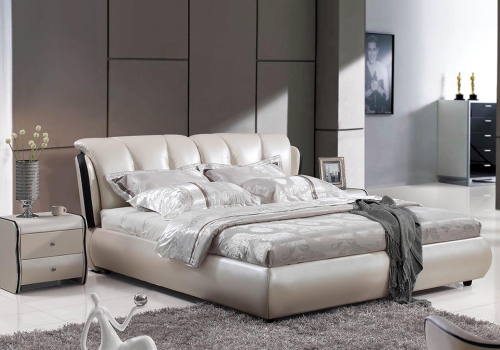 Rita Contemporary Italian Leather Bed Frame Fancy Homes