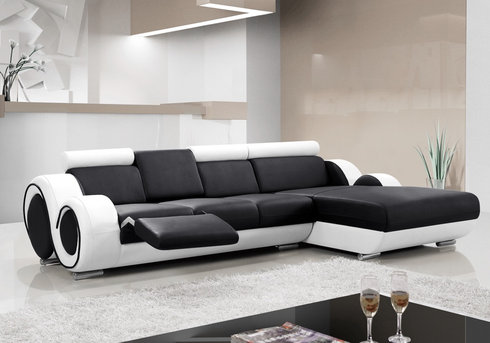 Ruota B Leather Modular Chaise Lounge Fancy Homes