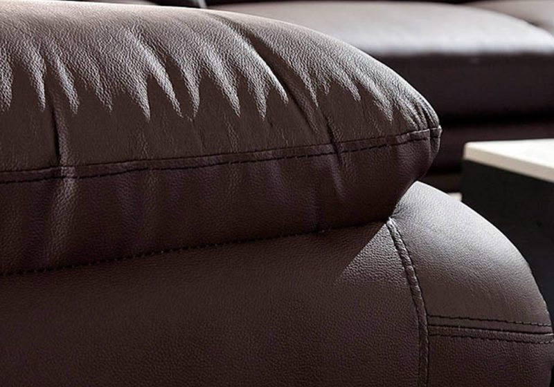 The armrests of Fancy Homes Diapason lounges suites leather sofa