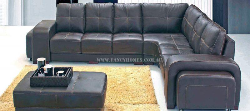 Fancy Homes Arthur corner leather sofa