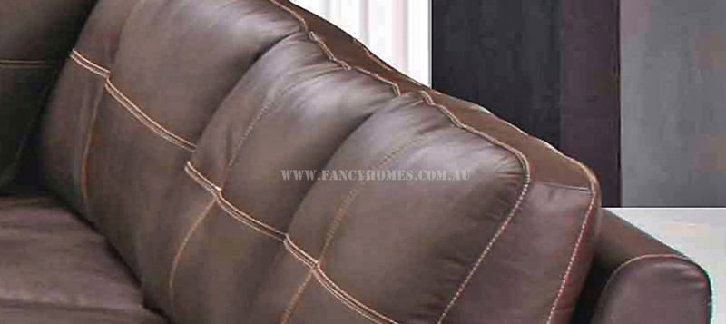 Fancy Homes Arthur corner leather sofa featuring removable back cushions