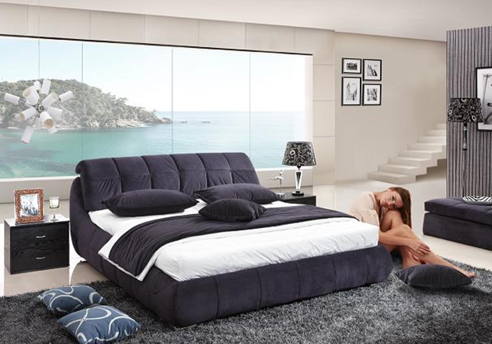 Buy Contemporary Fabric Beds & Frames Online | Fancy Homes