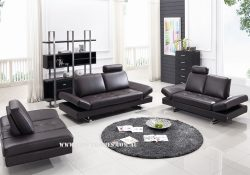 Fancy Homes Fino lounges suites leather sofa in black leather featuring sliding mechanism allows you create deeper seating. The adjustable armrests add additional flexibility and deliver sofa-bed functions