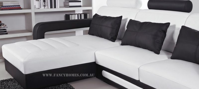 The comfortable chaise of Fancy Homes Java-B chaise leather sofa