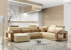 Fancy Homes Java modular leather sofa in cream and beige leather colour combinations