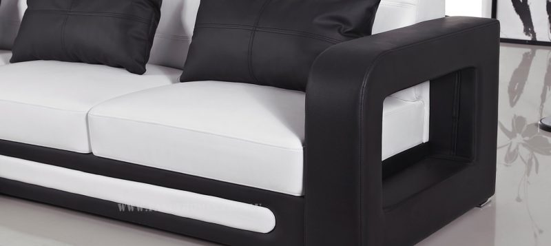 Fancy Homes Java-B chaise leather sofa comes with unique armrests design
