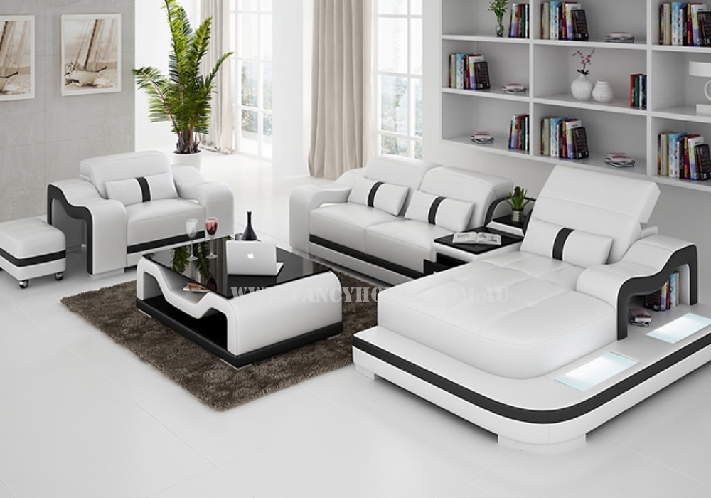 Kori E Leather Chaise Lounge Set With Single Chair Fancy