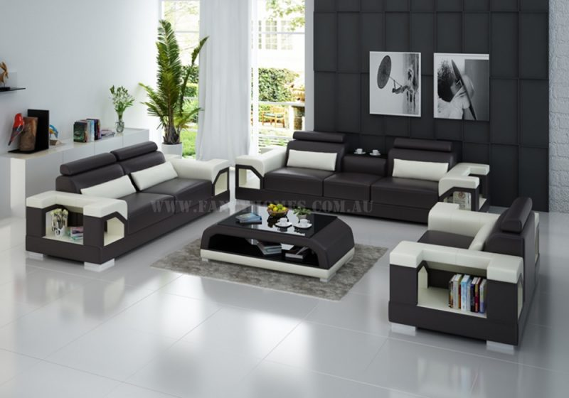 Fancy Homes Vera-D lounges suites leather sofa featuring storage armrests, adjustable headrests and in-built cupholder