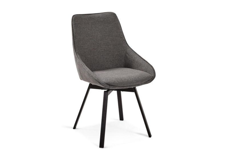 Haston Dining chair dark grey