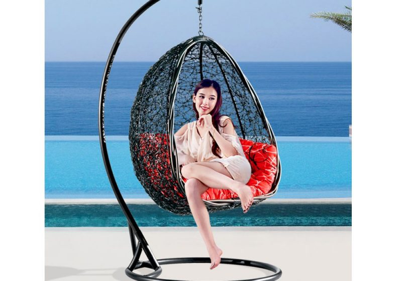 Fancy Homes BP732-B hanging chair suitable for both outdoor and indoor use