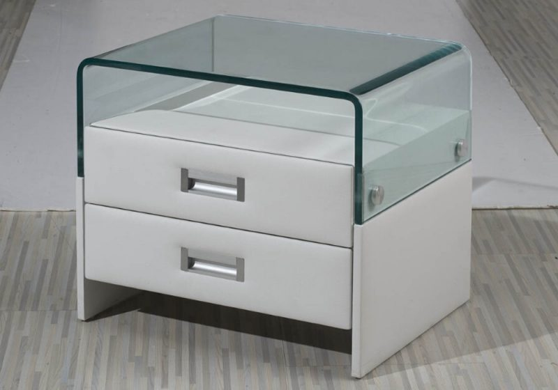 Fancy Homes SY-43 Bedside Table in White