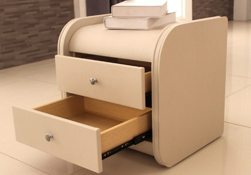 Fancy Homes SY-01 Bedside Table with Two Drawer Units