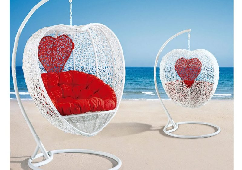 Fancy Homes WP737-W heart shape hanging chair