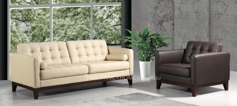 The single seater of Fancy Homes Concetta lounges suites leather sofa