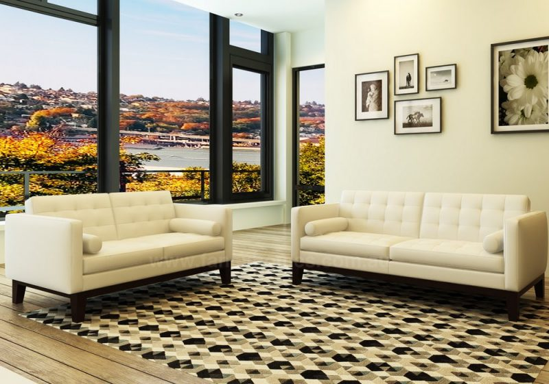 Fancy Homes Concetta lounges suites leather sofa in beige leather