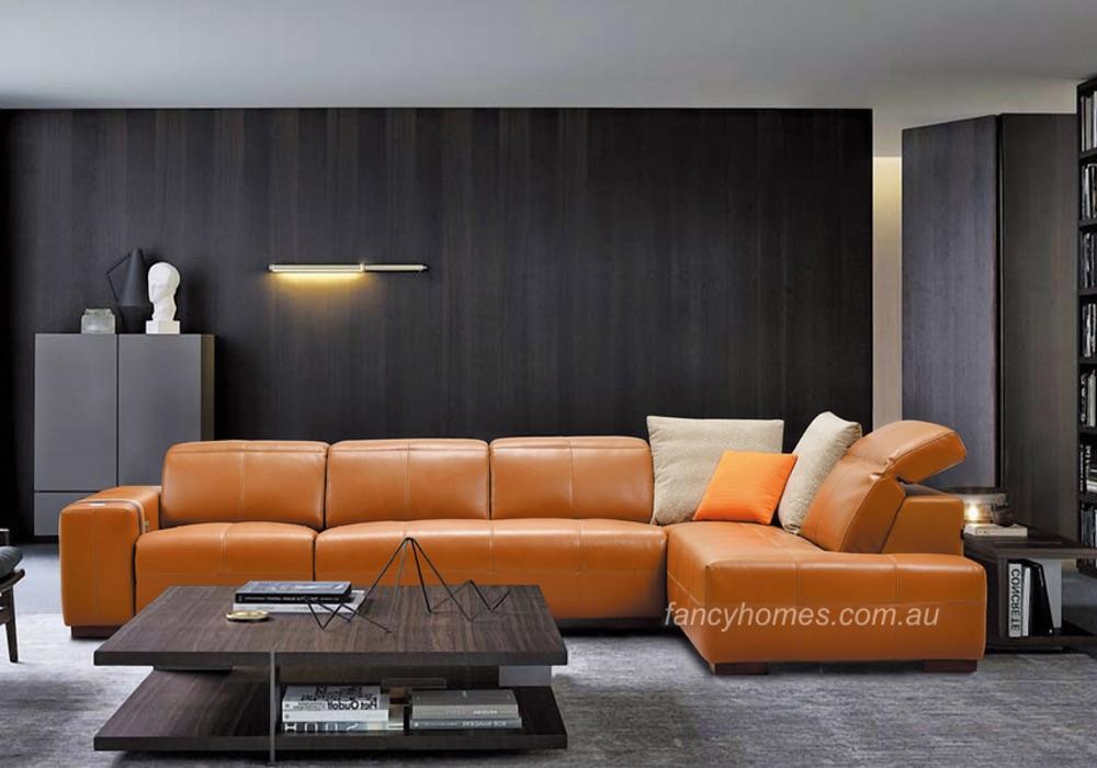 Morgan leather recliner modular lounge