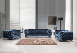 Velvet classic design Fabric Lounge
