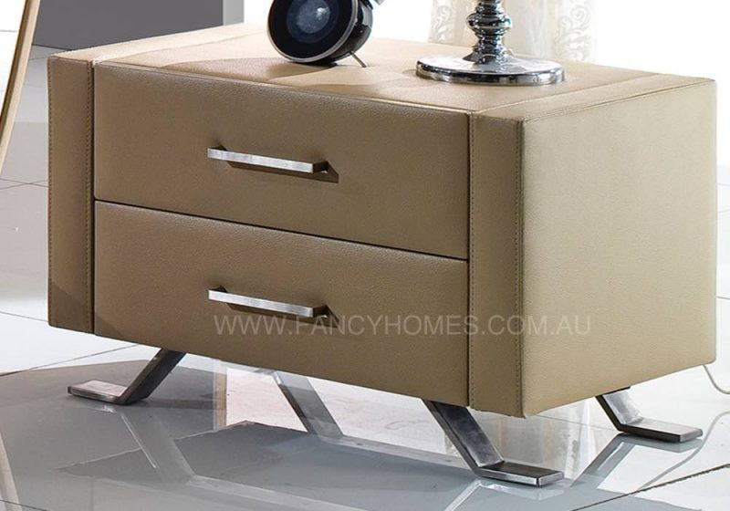 BEDSIDE TABLE IN BEIGE