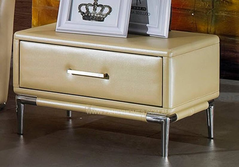 Bedside table in gold