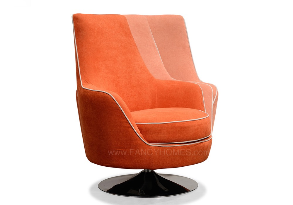 Orange Swivel armchair