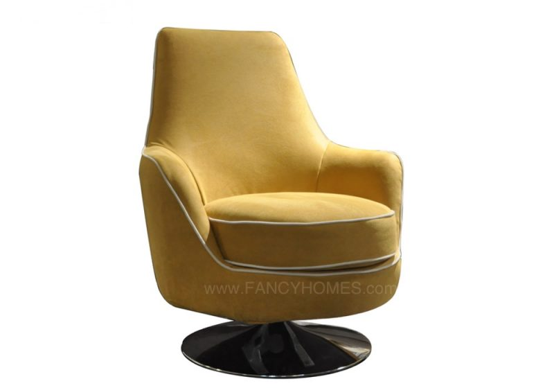 SWIVEL ARMCHAIR YELLOW