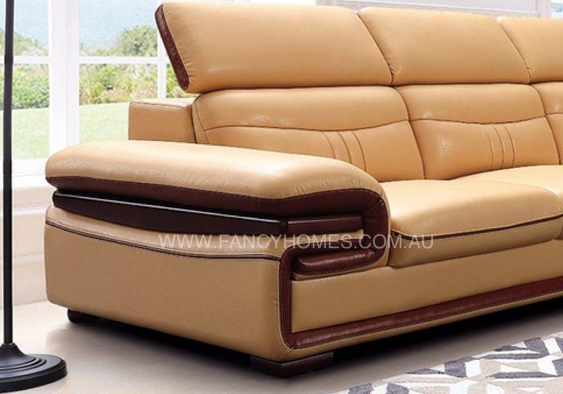 leather sofa armrest