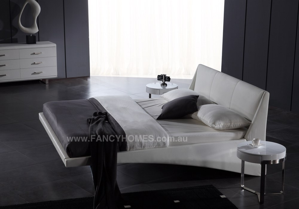 Salima Designer Italian Leather Bed Frame Fancy Homes