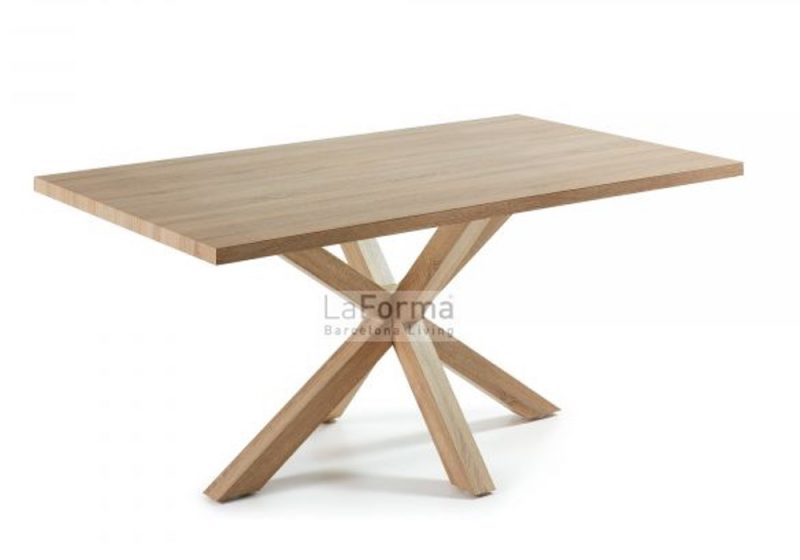 dining table with timber top