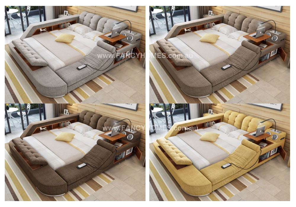 Lia Multifunctional Fabric Bed Frame Fancy Homes