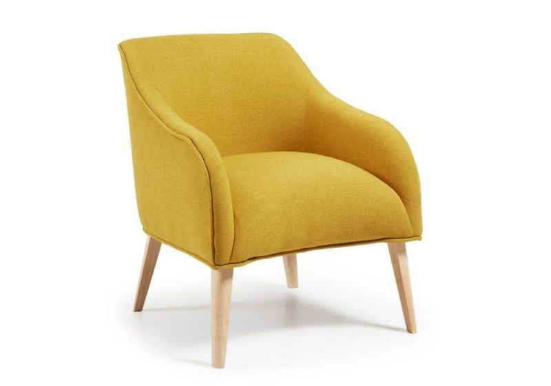 armchair in yellow