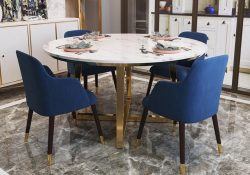 QS8872 round marble top dining set