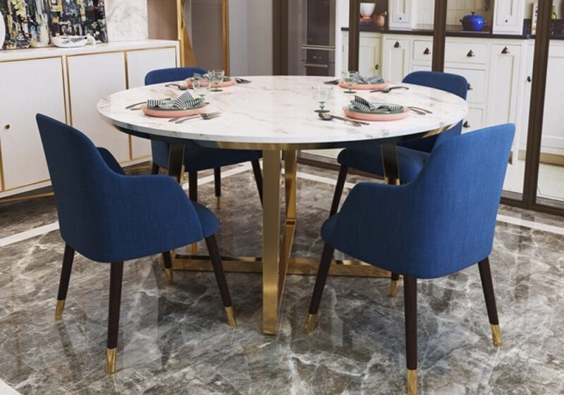 ROUND MARBLE TOP DINING