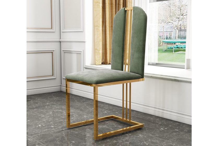 Fancy Homes QS8851 dining chair in green velvet