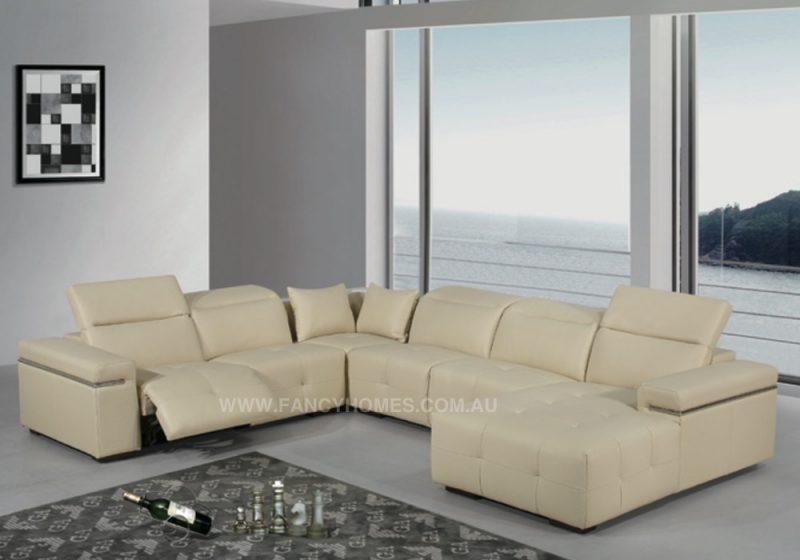 leather recliner lounge u shape