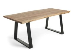 SOLID TIMBER TOP DINING TABLE