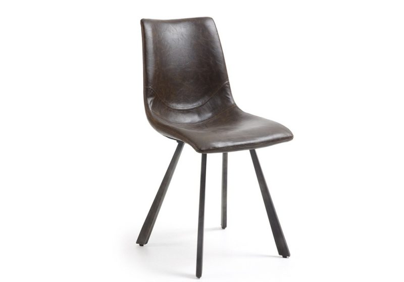 DINING CHAIR-DARK BROWN