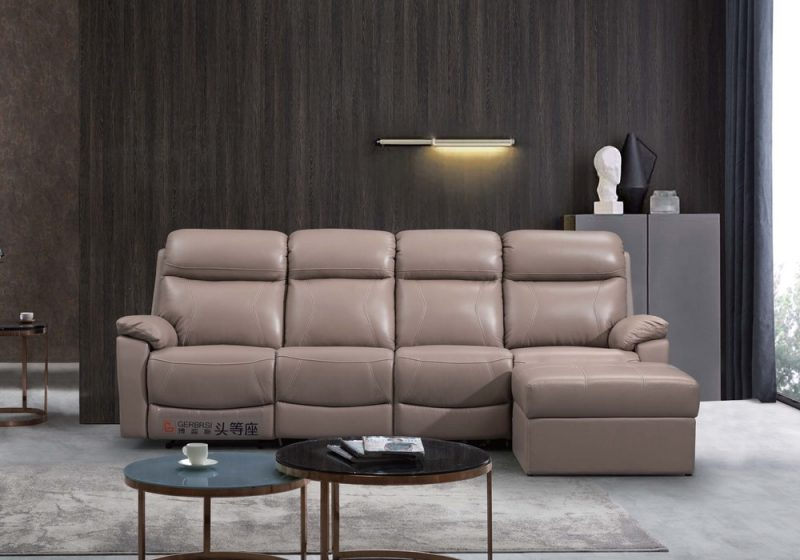 Fancy Homes Brooks-B recliner leather sofa in tan colour leather