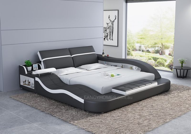 Fancy Homes Tanika Italian Leather Bed Frame, Leather Beds Online
