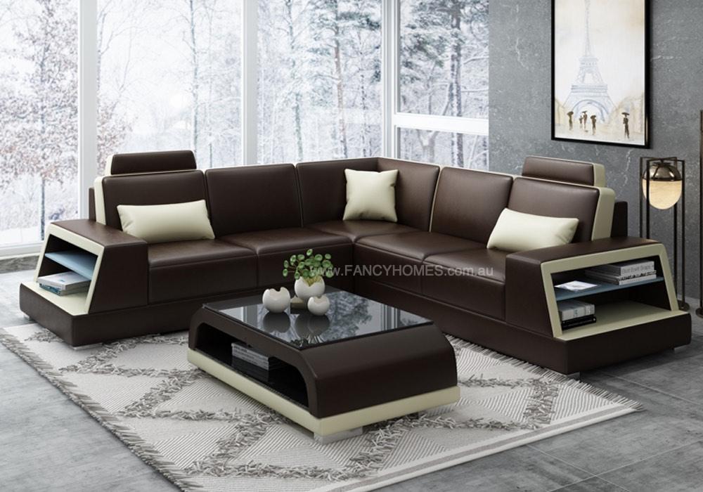 BEVERLY-B Corner Leather Sofa