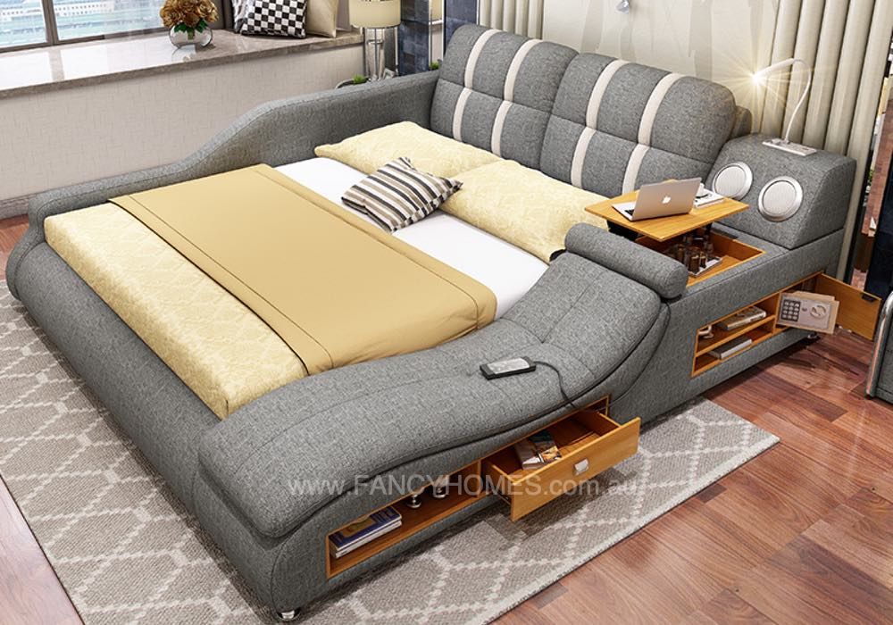 Clive Multifunctional Fabric Bed Frame